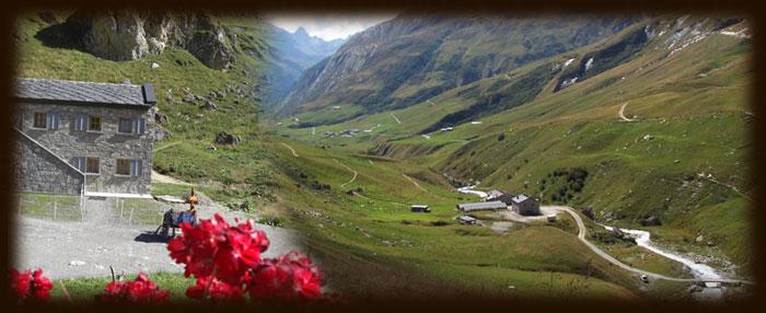 Situation du Refuge des Mottets en Savoie - Tour du Mt Blanc